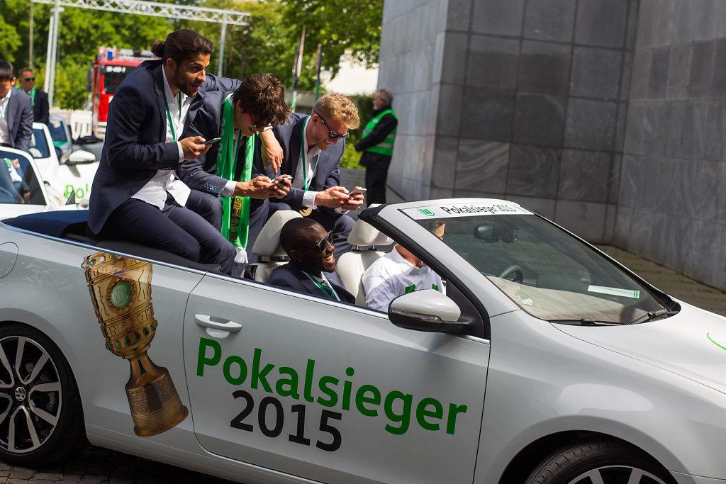 Saison- und Pokalfeier des VfL Wolfsburg