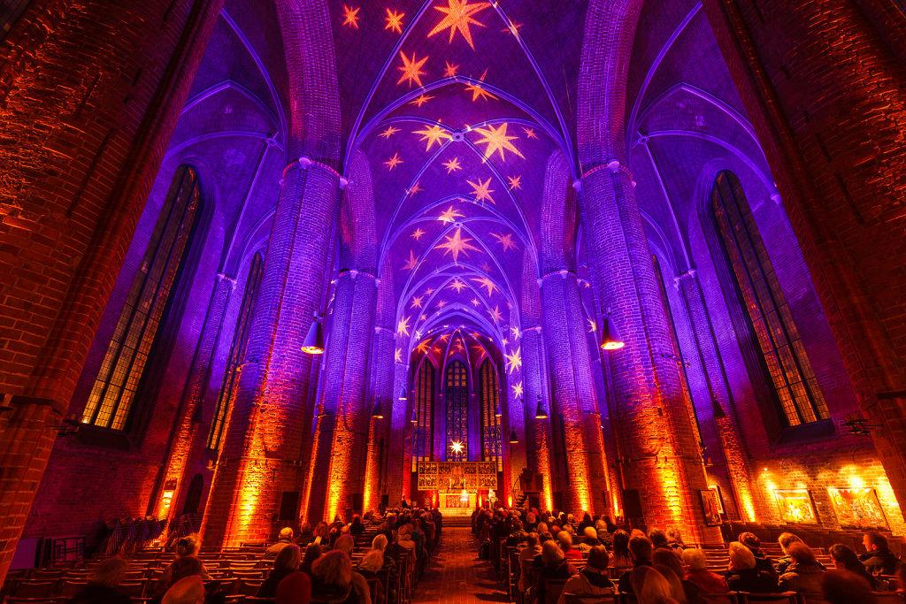 Adventsbeleuchtung in der Marktkirche