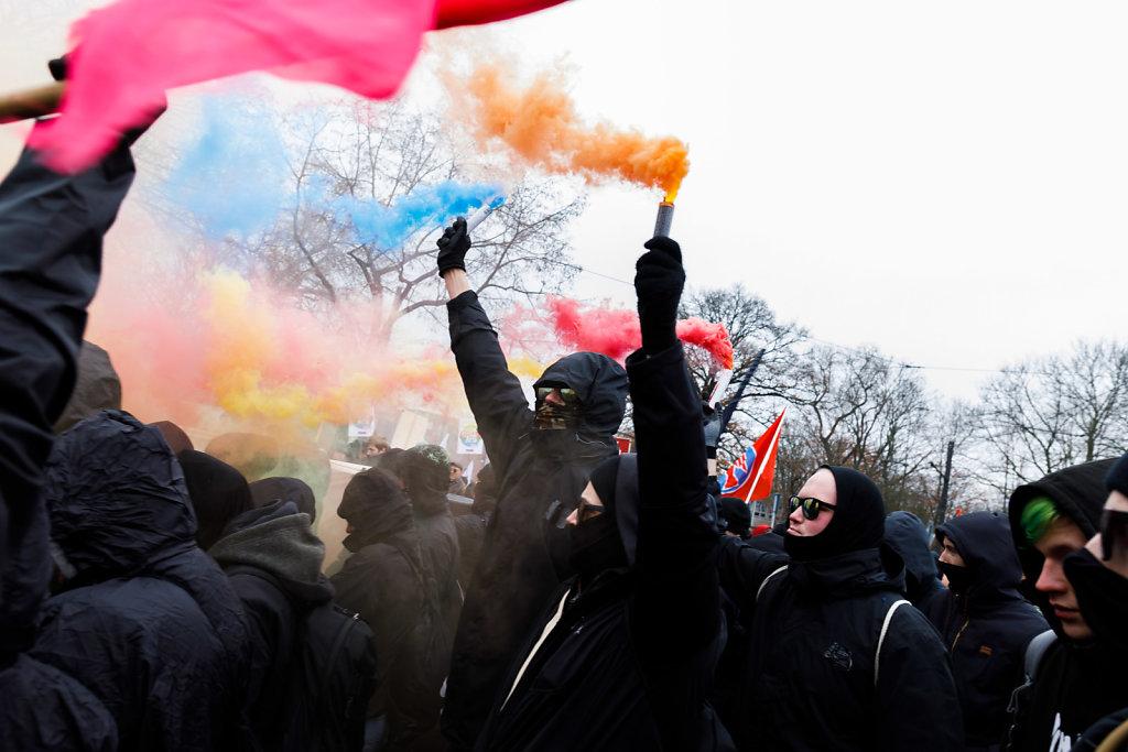 AfD Parteitag-Gegendemonstration