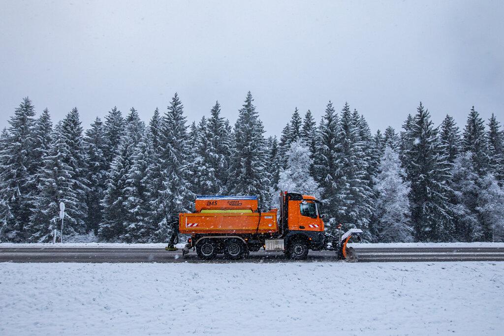 Schneefall im Hochschwarzwald